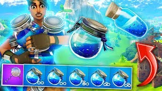UNLIMITED SHIELD POTIONS IN FORTNITE BATTLE ROYALE! (This Loot Spot Is INSANE!)