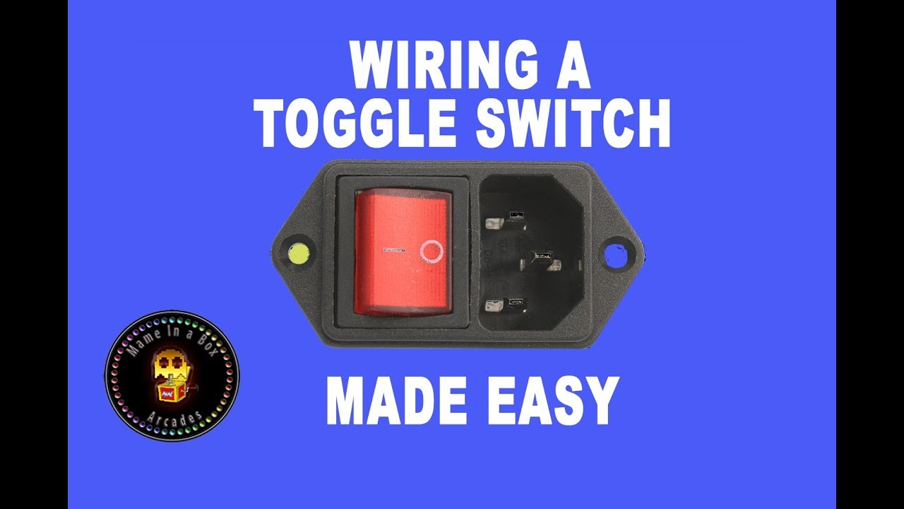 Toggle Switch wiring - YouTube