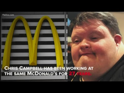 All Things Atlanta - Atlanta McDonald's Employee with Down Syndrome Celebrates 27 Years