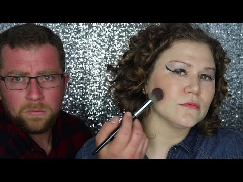 HUSBAND DOES MY MAKEUP!!!!