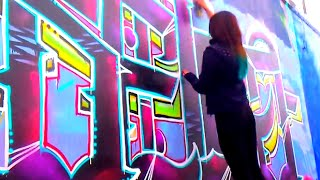 BELKA GIRL GRAFFITI EVENTO GRAFFIKA NEZA