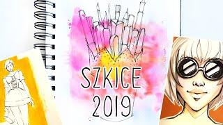 MOJE SZKICE 2019 w OGROMNYM szkicowniku