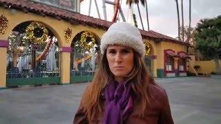 Fussy Farina spends Thanksgiving at Knott's Merry Farm in Buena Park, California.
