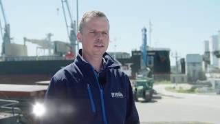 Hafenarbeiter: Fendt 720 Varios arbeiten im 3-Schicht-Betrieb