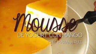 MOUSSE DE YOGURT CON MANGO