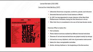 Overture from West Side Story