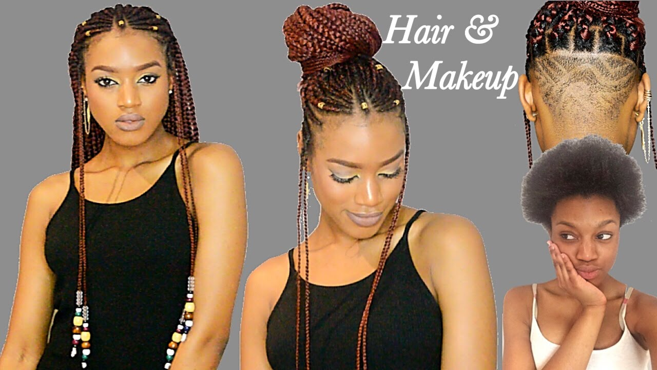 Fulani Braids &amp Beads + Undercut Transformation Crochet - Black Girl Braid Hairstyles