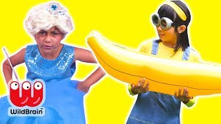 Minions Ruin Princesses Tea Party and Slumber Party - Princesses In Real Life | WildBrain Kiddyzuzaa