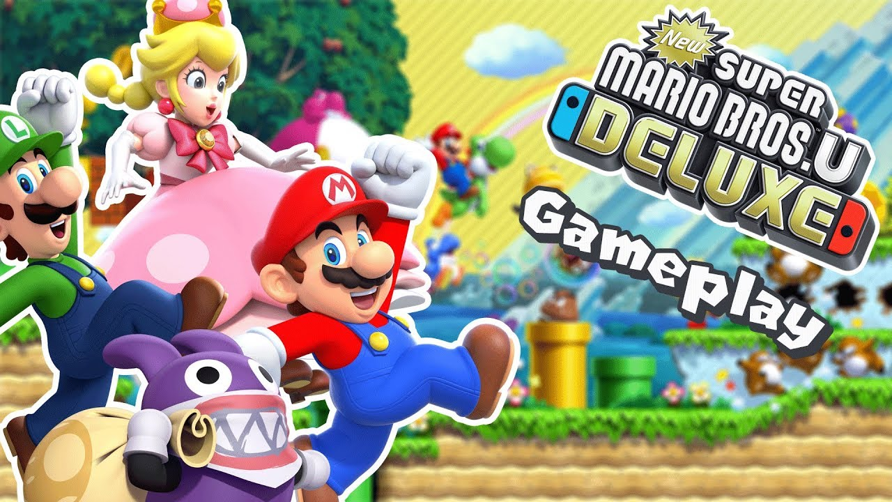 Nintendo Switch Gameplay New Super Mario Bros U Deluxe Youtube