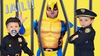 Little Heroes, The Real Life Kid Cops, The Supehero and The Jail Comic Video Parody