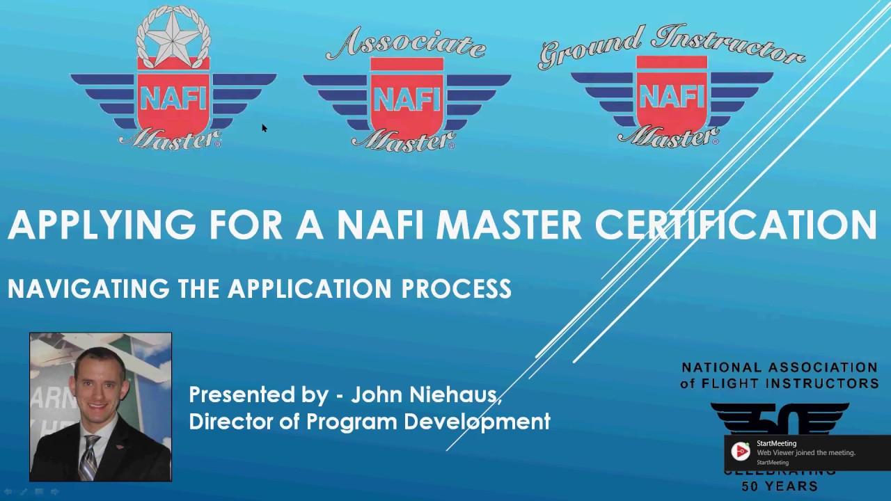 Nafi February 2017 Chairmans Webinar How To Apply For The Nafi