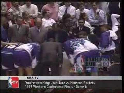 Utah Jazz vs Houston Rockets 1997 Game 6 West Conf Finals