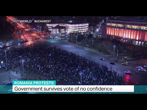 Romania Protests: Government survives vote of no confidence
