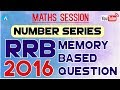 Number Series: RRB Memory Based Question 2016