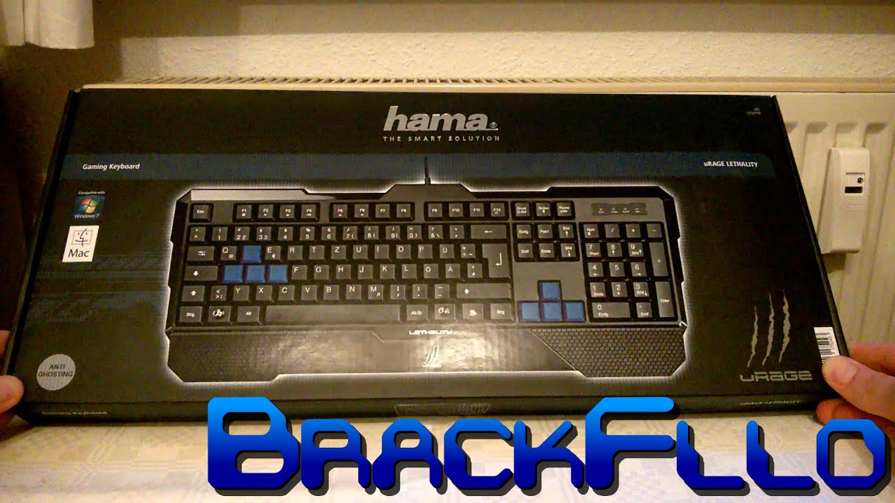 8ac5dd247be BrackFllo packt aus: Unboxing hama uRAGE LETHALITY Gaming Keyboard ...