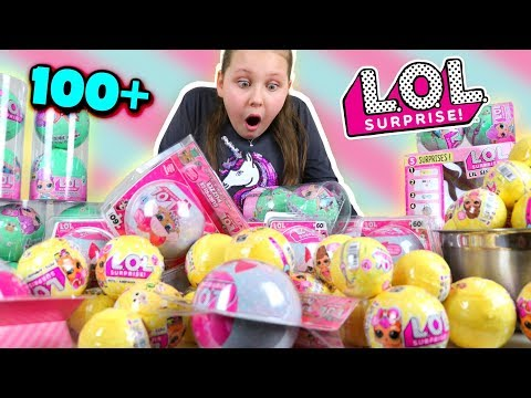 OPENING 100 LOL Surprise Toys in 1 Minute Challenge!!!