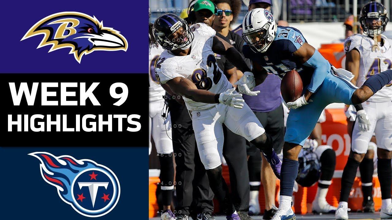 Ravens Vs Titans Nfl Week 9 Game Highlights Youtube