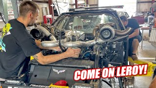 homepage tile video photo for Trying To Start Leroy's Repaired 2,000hp Engine Hours Before LS Fest!!! Will He Make It???