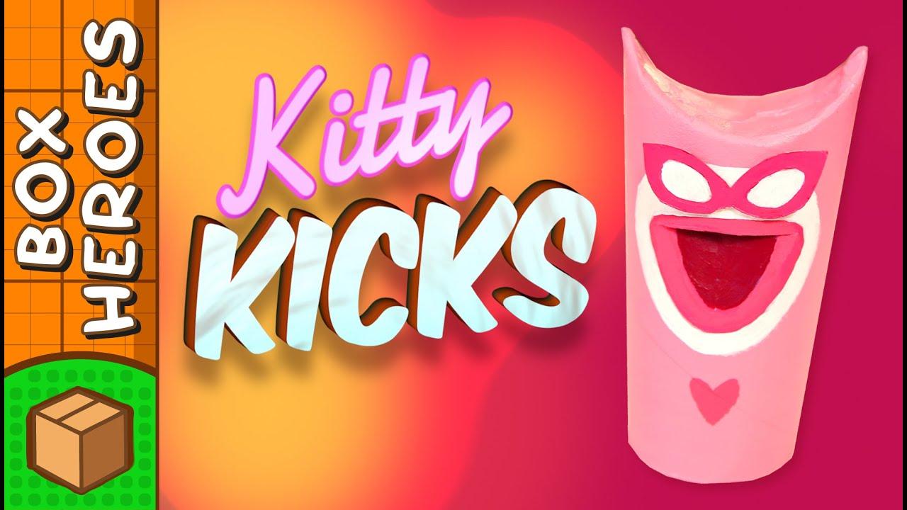 Kitty Kicks - DIY Paper Roll Crafts | Box Heroes on Box ... - photo#21