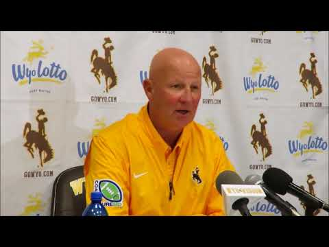Wyoming Coach Craig Bohl Discusses Cowboys Win Over Texas State