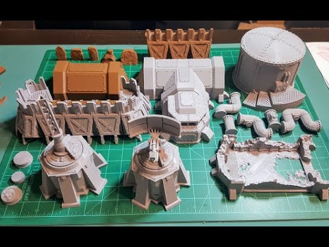 image relating to 3d Printable Terrain named 3d Published: Sci-Fi armored barracks - Terrain 4 Print KickStarter Showcase