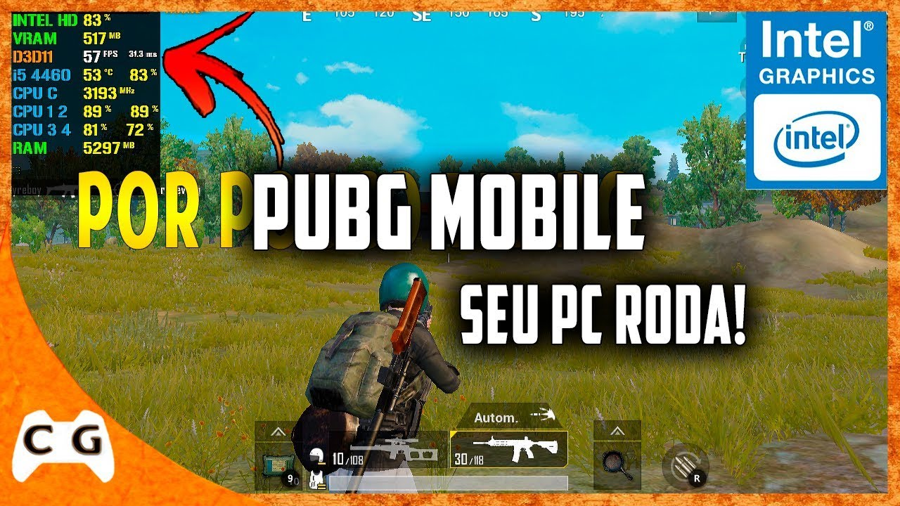 Pubg With Intel Hd Graphics: PUBG Mobile Gameplay Teste Intel HD Graphics Roda Em PC