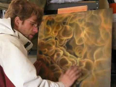 How to paint fire with an airbrush mural joe youtube for Airbrush mural painting