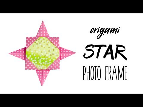 easy-origami-star-photo-frame-tutorial---diy---paper-kawaii