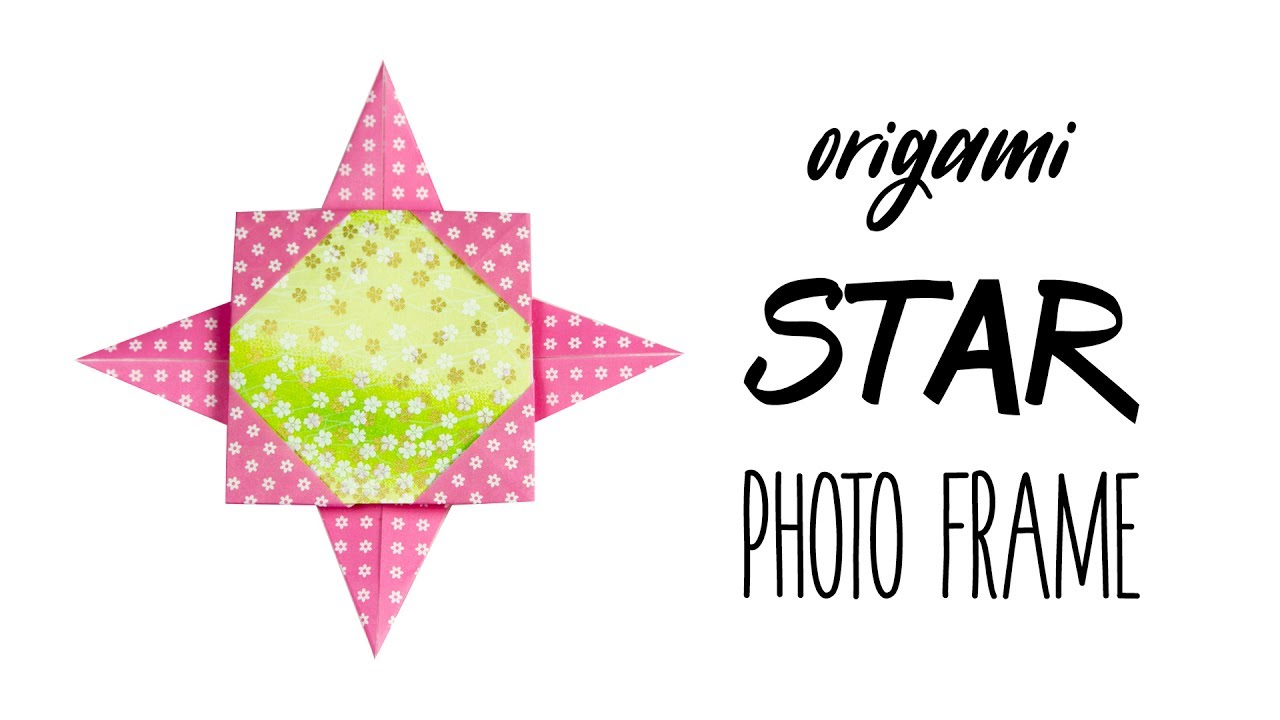 easy origami star photo frame tutorial diy paper kawaii