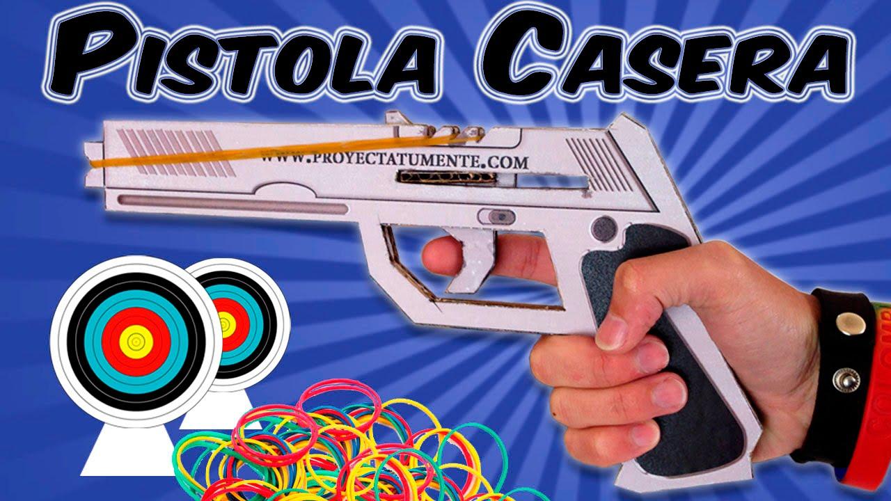 Como Hacer una Pistola con Proveedor para 3 Disparos - YouTube