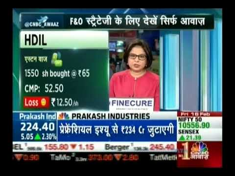 Kiran Jadhav, Technical Analyst, KiranJadhav.com on CNBC Awaaz 16th Feb 2018
