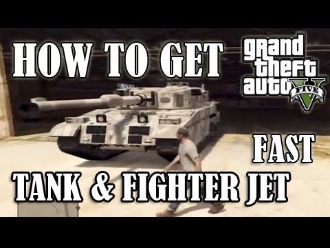 GTA 5 - How To Get A TANK or Fighter JET FAST! - YouTube