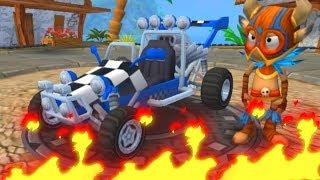 ГОНКИ НА ТАЧКАХ Beach Buggy Racing #3 Игровой мультик Видео для детей Машинки как из мультика