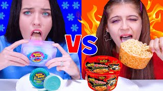 ASMR HOT vs COLD CHALLENGE 음식 챌린지 Eating Sounds by LiLiBu
