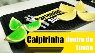 Receita de Caipirinha dentro do limão - Bartender Store
