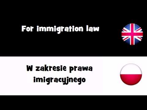 VOCABULARY IN 20 LANGUAGES = For immigration law