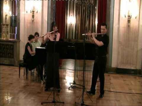 J.S.Bach - Sonata D-dur for 2 flutes and piano -III Andante - IV Allegro