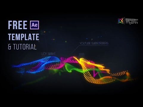 Particle Waves Intro - Free After Effects Template & Tutorial