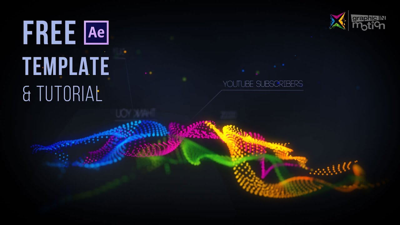 Particle waves intro free after effects template for Free animated video intro templates