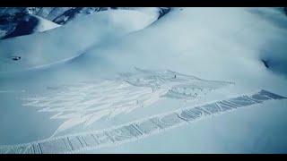 """Крутой подарок сериалу """"ИГРА ПРЕСТОЛОВ""""  Герб сериала размером с гору"""