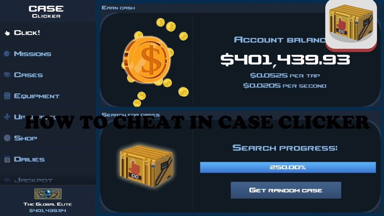 how to hack case clicker