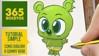 COMO DIBUJAR A GUMMY BEAR PASO A PASO - Dibujos Kawaii faciles - How to draw Gummy Bear