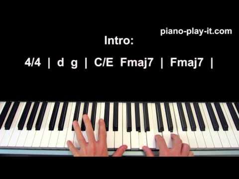 Gravity Piano Tutorial Sara Bareilles