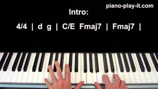 Gravity Piano Tutorial Sara Bareilles