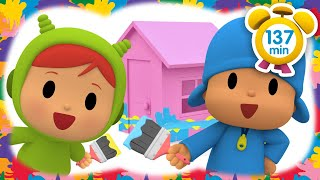 🏡POCOYO in ENGLISH -House of a Thousand Colors [137 min]|Full Episodes|VIDEOS and CARTOONS for KIDS