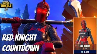 "New ""Red Knight"" Skin Returning Today Countdown - (Fortnite: Battle Royale Gameplay)"