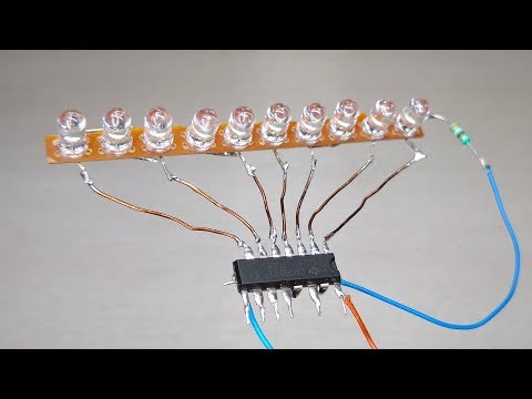 Amazing 4017 IC led chaser