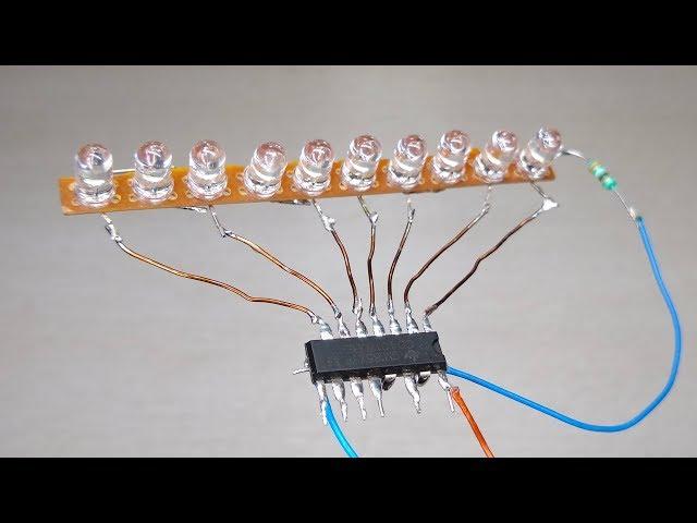 Amazing 4017 IC led chaser