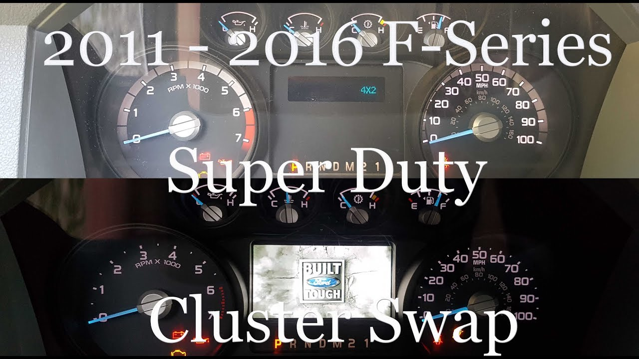 2011 2016 f250 lariat instrument cluster upgrade how to swap [ 1280 x 720 Pixel ]