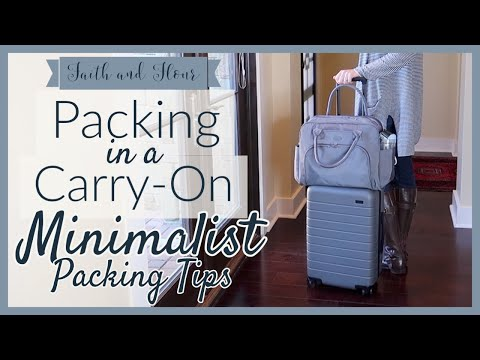 Packing for Europe with Only a Carry-On! | Minimalist Packing Tips | Travel Capsule Wardrobe